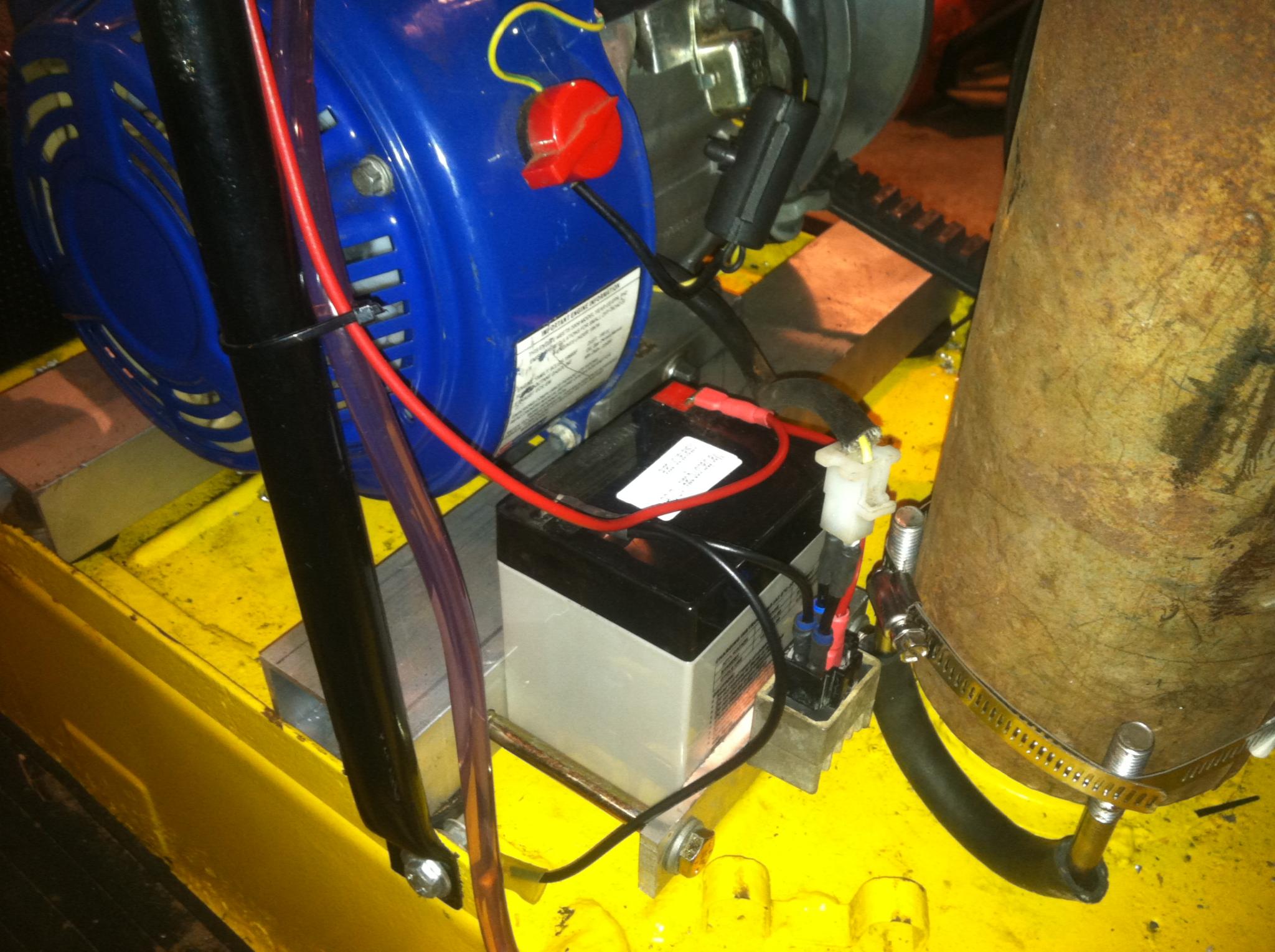 Oly gets a new motor – Honda Gx200 Wiring